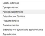 Eerste resultaten Google AdWords aanbiedingsextensies
